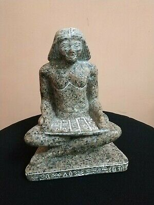 Antique Statue Rare Ancient Egyptian Pharaonic Egyptian writer Granite bc