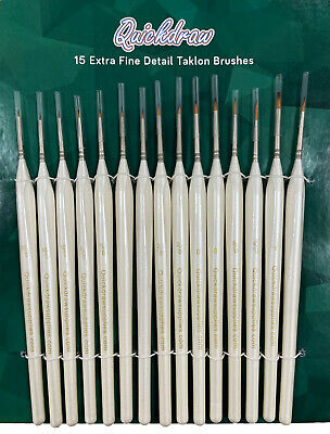 Set 15 Miniature Extra Fine Detail Modeling Nail Art Craft Paint Brush Set Pb002