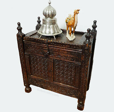 antik orient Truhe Antique treasure Dowry Chest Truhe nuristan Afghanistan -ULM2