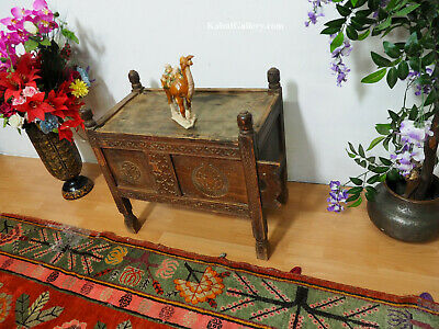 antik orient Truhe Antique treasure Dowry Chest Truhe nuristan Afghanistan -ULM3