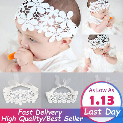 Baby Girl Lovely Hair Band Lace Headband Headdress Flower Party Accessories Cute