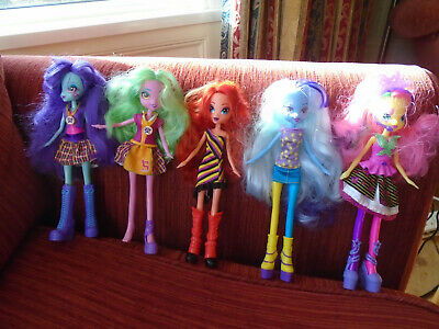 My Little Pony Equestria Girls doll bundle x5 Sunny Flare Lemon Zest etc Hasbro