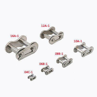 Stainless Steel04C/06B/08B/10A/12A/16A-1 Roller Chain Connector Link Full Buckle
