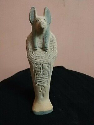 Antique  Anubis Ancient Egyptian God of the Afterlife Figurine BROUWN bc
