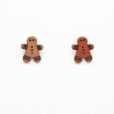 white shaped shank back buttons christmas 17x15mm novelty Gingerbread man men
