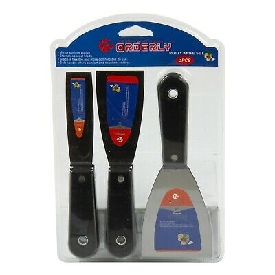 3pc Paint Scraper Set Decorating Filling Knife Spreading Stripping Tool