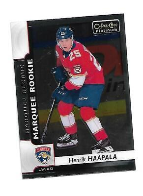 Henrik Haapala 2017-18 OPC O-Pee-Chee Platinum Marquee Rookie Florida Panthers
