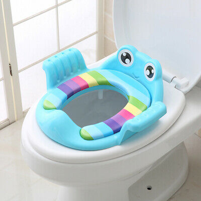 Cute Kids Outdoor Travel Training Toilet Smooth Cartoon Potty Seat Bright Colors
