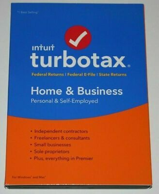 Intuit TurboTax Home & Business 2019 Tax Preparation Software