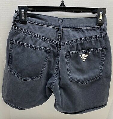 Preowned VINTAGE Guess jeans Black cotton shorts size 27 women's