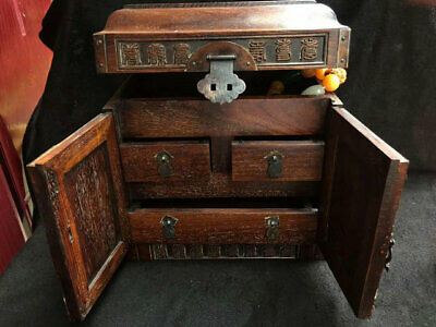 Exquisite Chinese antiques handmade Rosewood   Jewelry box cv57