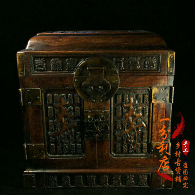Exquisite Chinese antiques handmade Rosewood   Jewelry box  cv62