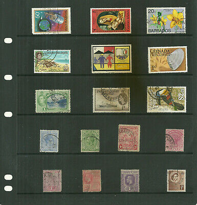 Commonwealth Island  Carribean 6  stock sheets   mix collection stamps