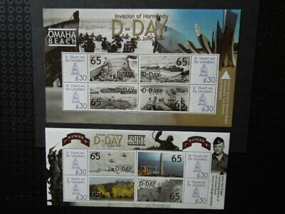 G918  St. Vincent Grenadines 2009  Ww 2   D-Day  2  X  S/S  Mnh