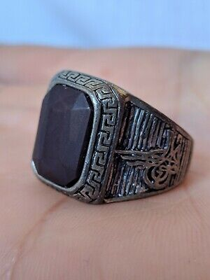 Ancient Vintage-Antique Berber Ring Metal Color Silver Old Stuning Artifact Rare
