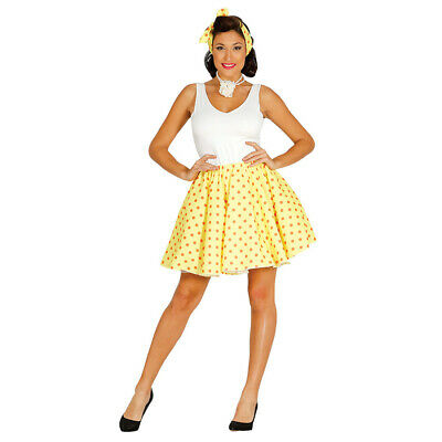 50er Years Rockabilly Costume for Women's Vintage Skirt with Hairband L 42-44