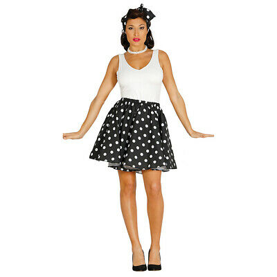 50er Years Rockabilly Costume for Women's Vintage Skirt with Hairband L