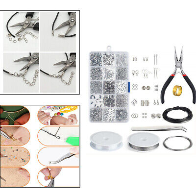Wires Jewelry Making Kit Lobster Clasps 15 Slots Accessories With Tools Pliers