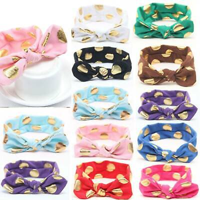 Baby Rabbit Headband Cotton Elastic Cute Hair Band Girls Bow-knot Newborn Bows