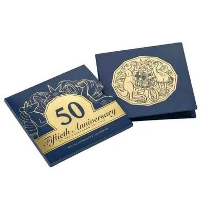 2019 50c Uncirculated Five Coin Set with a Gold Plated Coin - 50th Anniversary