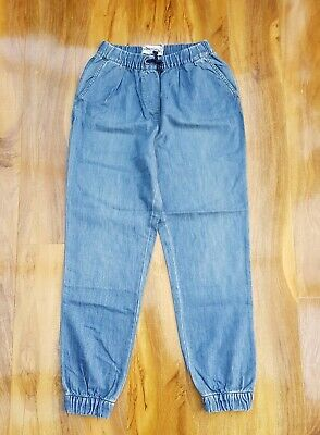 Mini Boden GIRLS COTTON pull on DENIM trousers. Brand New. Size 13-14 years.