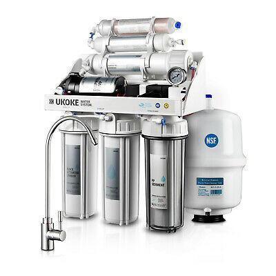 Ukoke 6 Stages Reverse Osmosis Water Filtration System 75 GPD with Pump