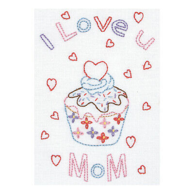 ANCHOR | Embroidery Kit: I Love Mum - Gift Card | RDK58