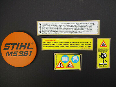 UP683 ---------- STIHL CHAINSAW MS880 NAME TAG BADGE NEW OEM # 1124 967 1501