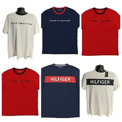 Tommy Hilfiger T-shirt Mens Graphic Text Tee Short Sleeve Logo Top Casual New