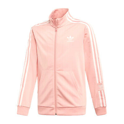 97311-Adidas Neck Jacket Stripes Felpa Rosa in Poliestere Da Bambino FM5684