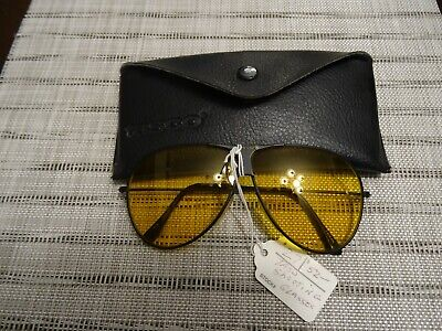 Tasco Vintage Early-1980s Clear Lens Aviator Safety Glasses 1135C