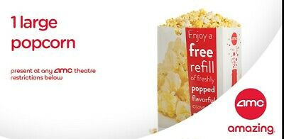 AMC: 1 Large Popcorn - Fast E-Delivery of E-Voucher with PIN & barcode