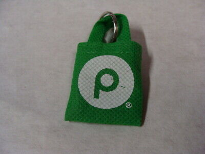 Publix Green Mini Reusable Shopping Bag Key Chain