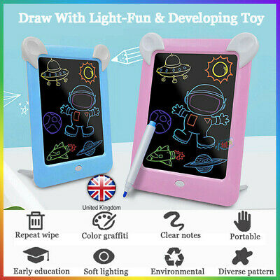 3D Magic Drawing Pad LED Light Glow Art Writing Puzzle Board Toy Gifts for Kids