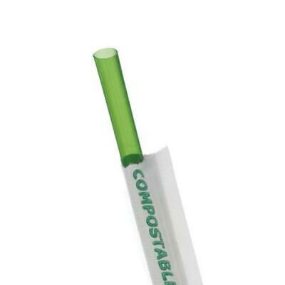 Eco-Products - EP-ST772 - 7 3/4 in Green Wrapped Straws