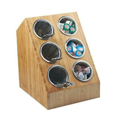 Cal-Mil - 1426-60 - 6-Hole Bamboo Cylinder Display
