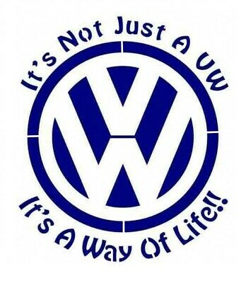 high detail airbrush stencil vw life FREE UK POSTAGE