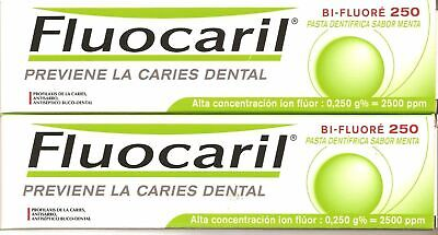 PACK 2x FLUOCARIL BI- FLUORE 125ml TOOTHPASTE TOTAL 250ml Free Shipping