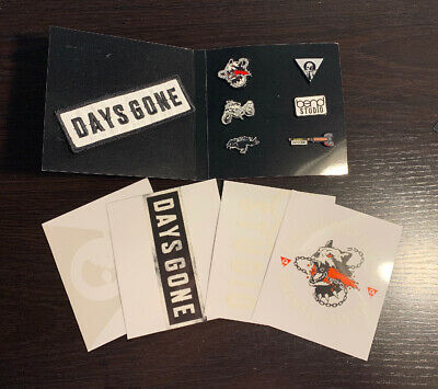 Days Gone PS4 Collectors Edition Enamel Pin Patch & Decal Set New NO GAME