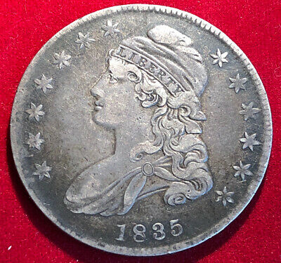 1835 Capped Bust Half Dollar - Scarce Extra Fine Better Date