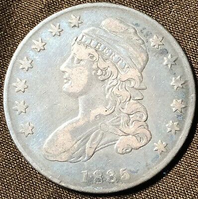 1835 CAPPED BUST HALF DOLLAR NICE ALL ORIGINAL EXAMPLE. Problem Free VF/XF