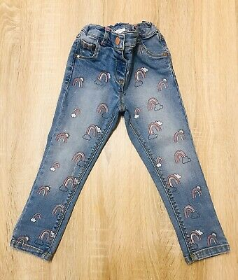 Baby Girls Stylish Skinny Rainbow Jeans.Aged 18-24 Months.From NEXT..🌈