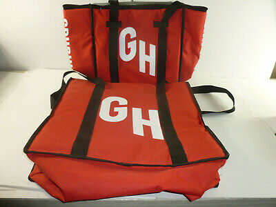 Official Grub Hub Food Bags Thermal Insulated Delivery Bags  2 BAGS Large