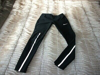 Teenage Girl's Nike Dri-Fit Reflective Black Sports Full Leggings 10-12 Yrs