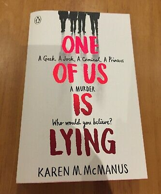 One of Us in Lying by Karen M. McManus (Paperback, 2017) Brand New