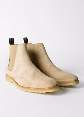 PAUL SMITH CHELSEA Boots Gerald Brown Suede UK Size 8