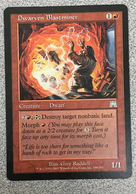 4x  DWARVEN BLASTMINER ONSLAUGHT ONS PLAYSET   MAGIC THE GATHERING MTG  NM M