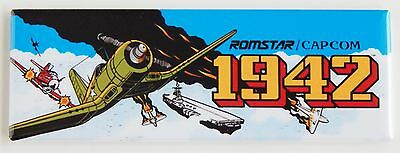 1942 Marquee FRIDGE MAGNET (1.5 x 4.5 inches) arcade video game header
