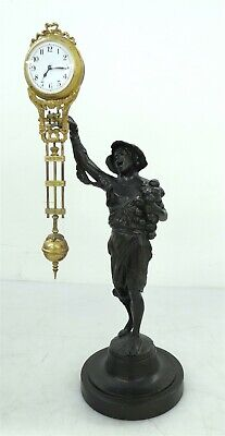 Antique Junghans Onion Boy Figural Mystery Swinging Clock