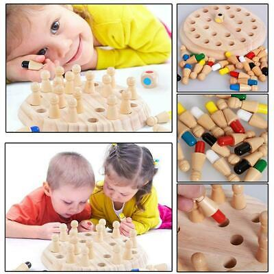 Wooden Memory Match Stick Chess Game Children Kids Puzzle Educational Toys MA